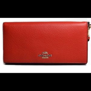 NWT Coach slim colorblock leather wallet